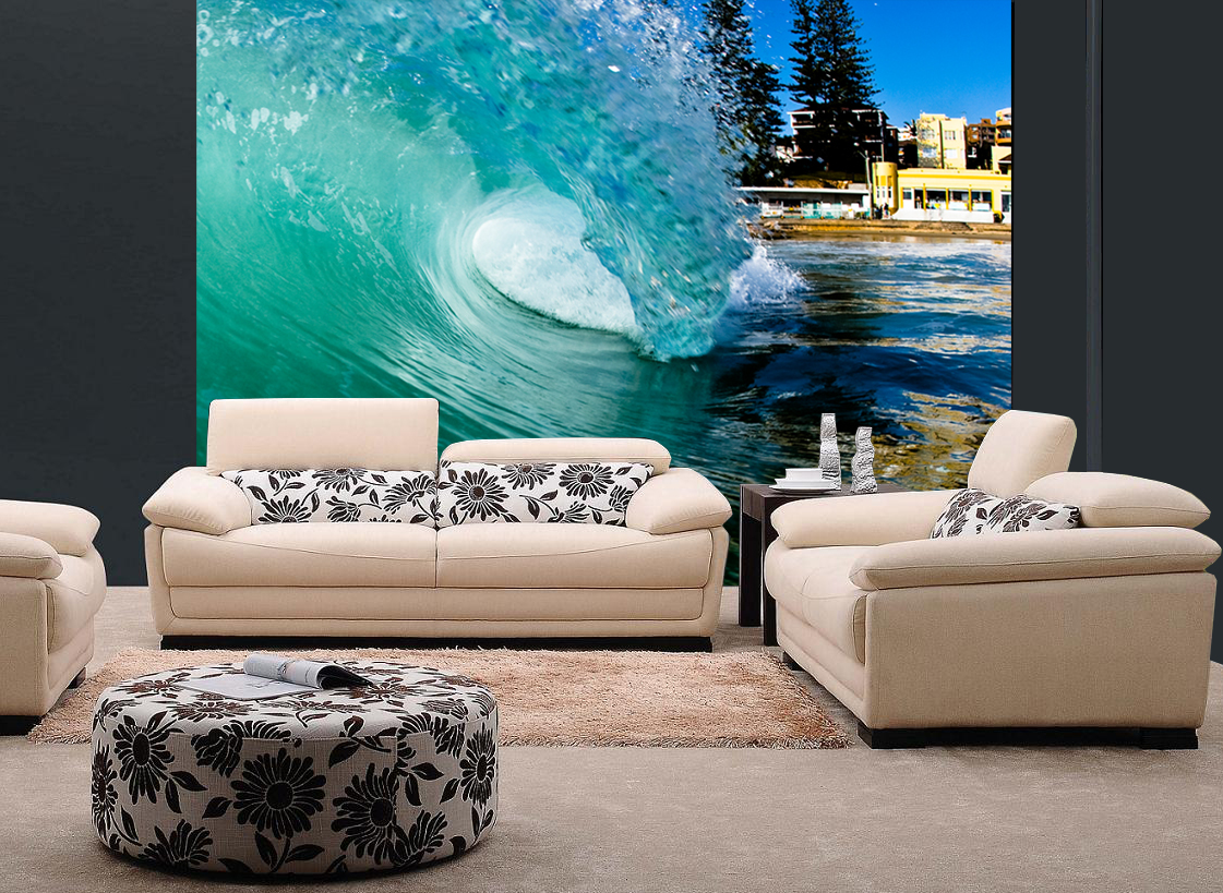 barreling wave surfing wall mural and removable sticker barreling wave surfing wall mural and removable sticker